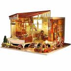moin moin ドールハウス ミニチュア 手作りキット セット お花いっぱいのログハウス | マルチーズ カントリー フ