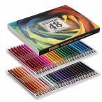 色鉛筆 48色 アート鉛筆セット 油性色ペン - Akura - 塗り絵 美術 描き用 スケッチ用 プレゼント 鉛筆削り付き