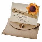 Lumierechat メッセージ カード メッセージカード ミニ プチ 一言メッセージ お礼 フラワー 席札 結婚式 テーブル