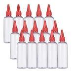 BENECREAT 15個セットドロッパーボトル 透明度高い グルーボトル 液体容器 100ml プラスチック 蓋付