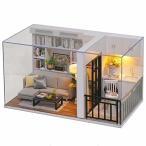 CuteBee (1/32)DIY木製ドールハウス、元気生活、ミニチュアコレクション、プレゼント(QT05)