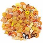 AUGOOG デコパーツ福袋 スイーツ 樹脂制 お菓子 パン系ミックス 100個セット 素材 ヘアクリップ 携帯ケース アク