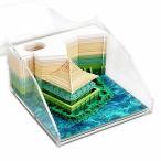 付箋 メモ帳 付箋紙のメモ 3D立体 紙の彫刻 紙建築シーン模型組立 芸術のブロック 和風クラフト 紙のカード