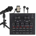 VBESTLIFE カラオケシステム 12種類の効果音 外部オーディオサウンドカードAUXメディアスピーカー AUX ワイヤレス