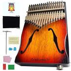 エレキ・カリンバ - Rock Kalimba ELK-001 17キー親指ピアノ、アコースティックギター F穴 、Sunburst ([Eelektronics)]