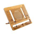 ブックスタンド 書見台 折りたたみ式 5段階25°-70°角度調整 読書台 レシピ台 40×35×1.3cm 軽くて持ち運びやすい