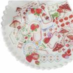 いちご きのこ 花柄 フレーム 和紙 フレークシール 4パック 160枚 手帳デコ 手帳シール かわいい デコレーショ