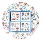 シール フレークシール 手帳 100枚入り 500以上小片入り かわいい おしゃれ シールセット 和紙シール 子供 手帳