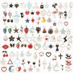 HOPELUCKIN 100個セット チャーム アクセサリーパーツ 装飾パーツ アクセサリー 合金 ネックレス/イヤリング/ペン