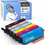 エプソン IC6CL80L 互換インクカートリッジ 6色セット とうもろこし インク 80L IC80L IC6CL80の大容量