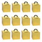 NALERギフト ミニ ボックス ラッピング  プレゼント 包装 ゴールド 金色 ゴールド お菓子 誕生日 クリスマス ハ