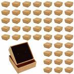 アルト ギフトボックス ラッピング プレゼントボックス 包装 クラフト用紙 無地 アクセサリー (ブラウン 5×5×