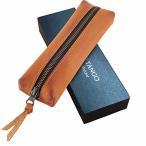 INDIGO TANGO ペンケース 筆箱 おしゃれ 高級 軽量 スリム シンプル 大容量 メンズ 男性 革 本革 牛革 レザー ギフ