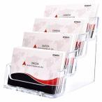 Floratek 名刺スタンド アクリル カード立て 横置き 大容量 卓上名刺ホルダー メンズ レディース兼用 オフィス