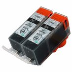 CANON 325 ブラック2本セット  ICチップ残量表示検知機能付き Mt.Smile製純正互換インクカートリッジ サービス