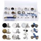 InduSKY ジーンズボタン 26個 3種類 ジーンズタックボタン 直径17mm 工具不要 ウエストサイズ伸ばすボタン 約3.5cm