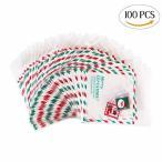 CCINEE クリスマス お菓子バッグ 100個 キャンディバッグ 甘いキャンディーのためのかわいい袋 クリスマスポー