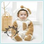 クリスマスプレゼントベビー ロンパース新生児出産祝い女の 男の子 赤ちゃ ベビー服クマ 着ぐるみ 動物もこもこカバーオール防寒着出産祝い退院コスプレ