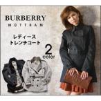 バーバリー ショート トレンチ コート ブラック レディース/MOTTRAM/BURBERRY 正規品