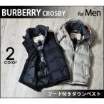 バーバリー メンズ ダウン ベスト ジャケット BURBERRY BRIT CROSBY 正規品