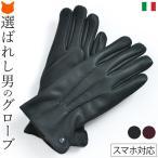 本革 手袋 メンズ グローブ ディアスキン レザー イタリア製 送料無料