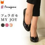 フェラガモ バレエシューズ リボン ペタンコ靴 Salvatore ferrragamo MY JOY 正規品 レディース 携帯 フラットシューズ 黒 ピンク ベージュ 大きい 25cm 26cm