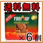 着火剤 ファイヤーアップ 100個入×6バケット 薪ストーブ 暖炉 着火材 キャンプ 焚き火