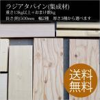 高級端材DIYキット 木材 ラジアタパイン(集成材) 幅:約280×厚さ:約25×長さ:約500(mm)約20kg/箱