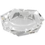 卓上灰皿 クリスタルガラス灰皿 ヘキサゴンカット 灰皿