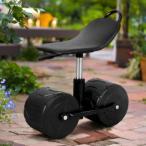 園芸用 360度回転シート 作業用大型タイヤ付きチェアー MR-5 花