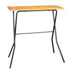 ルネセイコウ エフ カウンターテーブル ミドルブラウン・ブラック 日本製 完成品 FCT-93T