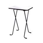 ルネセイコウ ハイテーブル ニューグレー・ブラック 日本製 完成品 WT-82