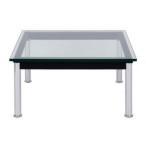 ル Le 幅70 LC10 正方形 デザイン テーブル おしゃれ ガラス製 Corbusier 一人暮らし コルビジェ デザイナーズ ローテーブル 可能テーブル リプロダクト