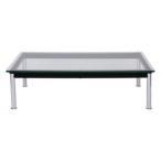 ル Le LC10 幅120 新生活 長方形 デザイン おしゃれ テーブル Corbusier コルビジェ 一人暮らし ローテーブル リプロダクト デザイナーズ ガラステーブル