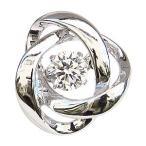 ダンシングストーン タイニーピン 一粒 ダイヤモンド 0.20ct ブローチ K18WG ホワイトゴールド トゥインクルセッティング 手作り