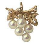 ブローチ 真珠 ピンブローチ ラペルピン 葡萄 本真珠 タイニーピン ダイヤモンド パール k18PG ピンクゴールド 送料無料 フォーマル 母の日 プレゼント 早割
