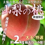 桃 もも モモ フルーツ 山梨県産 秀品 LLサイズ 2kg 高級桃 贈答用 お中元 送料無料