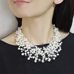 パールネックレス スワロフスキー ネックレス 淡水パール 真珠 パール ネックレス 30連ネックレス ボリューム 真珠ネックレス 送料無料