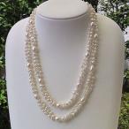 ロングネックレス レディース パーティー 結婚式 ネックレス 真珠 淡水パール ネックレス 真珠 パール