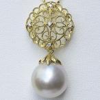 ネックレスペンダント 南洋真珠パール K18ゴールドネックレス ダイヤモンド 冠婚葬祭