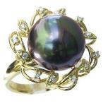 リングパール黒真珠K18ゴールドプレゼントジュエリー