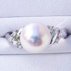 Yahoo!真珠の杜ブライダル リング パール 指輪 あこや真珠パールリング ホワイトゴールド ダイヤモンド