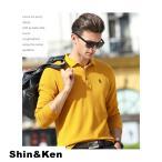ポロシャツ メンズ 長袖 ポロ Polo Shirt カジュアル 秋冬 ゴルフシャツ スポーツ ブランド 長袖ポロシャツ bons922