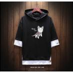 フード付き パーカー メンズ 半袖パーカー カジュアル Tシャツ ルームウェア スポーツ ブランド 半袖 パーカー fmt01