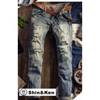 ジーンズ メンズ デニム パンツ JEANS ダメージ加工 大きいサイズ ジーパン mdnm004