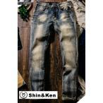 ジーンズ メンズ デニム パンツ JEANS ボトムス ダメージ加工 大きいサイズ ジーパン mdnm005
