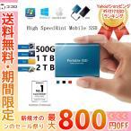 送料無料 外付けSSD ポータブルSSD 4TB 外付けハードディス 500GB 超薄型ポータブル ハードディスク 2TB USB3.1 Type-C 対応 スマホ互換可 耐衝撃 1TB