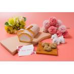 母の日限定 お花と選べるロールケーキのセット 送料無料 / 新杵堂