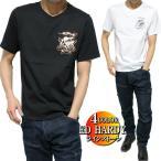 エドハーディー ed hardy Tシャツ メンズ ラインストーン/スカル/ドクロ/ラブキル シンプル ゴールド/シルバー 半袖