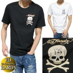 エドハーディー ed hardy Tシャツ メンズ 13 ラインストーン/スカル/ドクロ/ラブキル シンプル ゴールド/シルバー 半袖